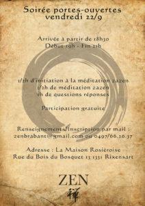 portes ouvertes au dojo zen de Rixensart
