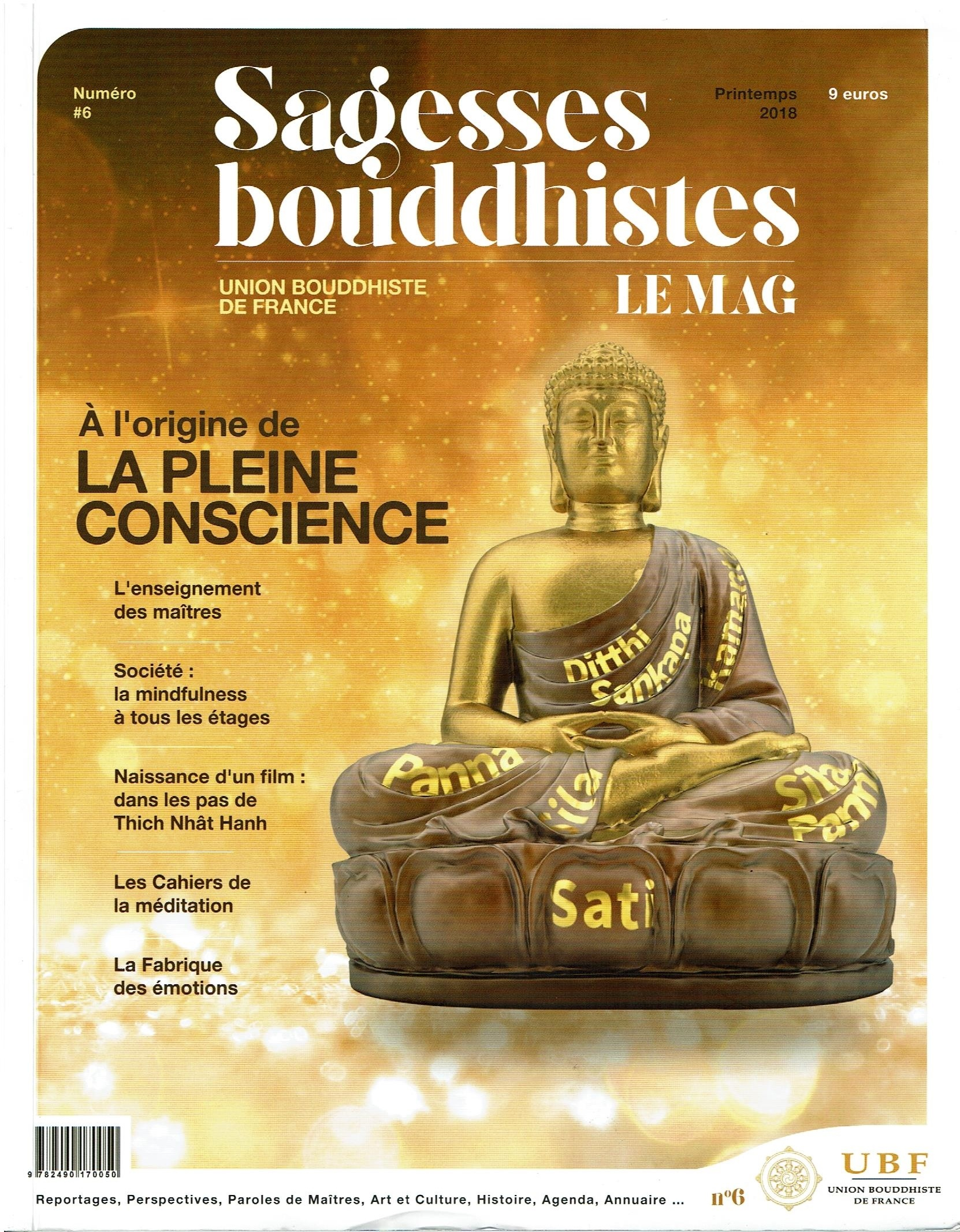 Aux origines de la Mindfulness – pleine conscience : Sagesses bouddhistes magazine n°6 (printemps 2018)